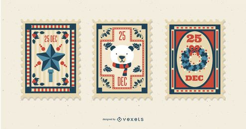Christmas Postal Stamp Set