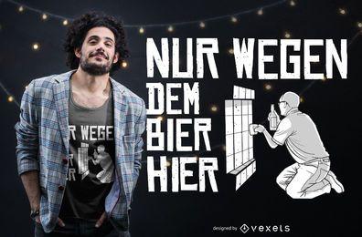 Diseño de camiseta de cita de letras alemanas de cerveza