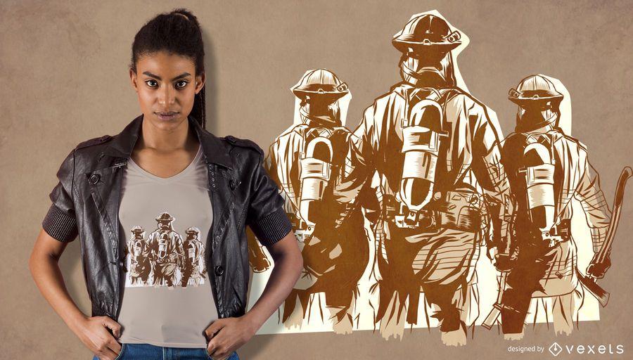 Firefighter Team T-shirt Design