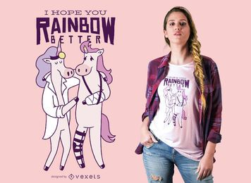 Diseño de camiseta Unicorn Doctor Quote