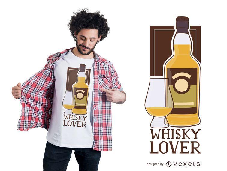 Diseño de camiseta de Whisky Lover