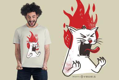 Projeto Raging do t-shirt do gato