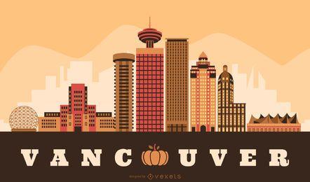 Projeto de Skyline de ação de graças de Vancouver