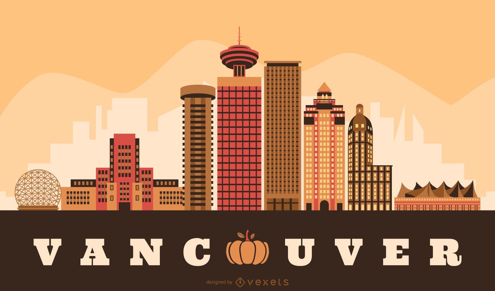 Vancouver Thanksgiving Skyline Design