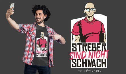 Design alemão do t-shirt das citações do totó forte