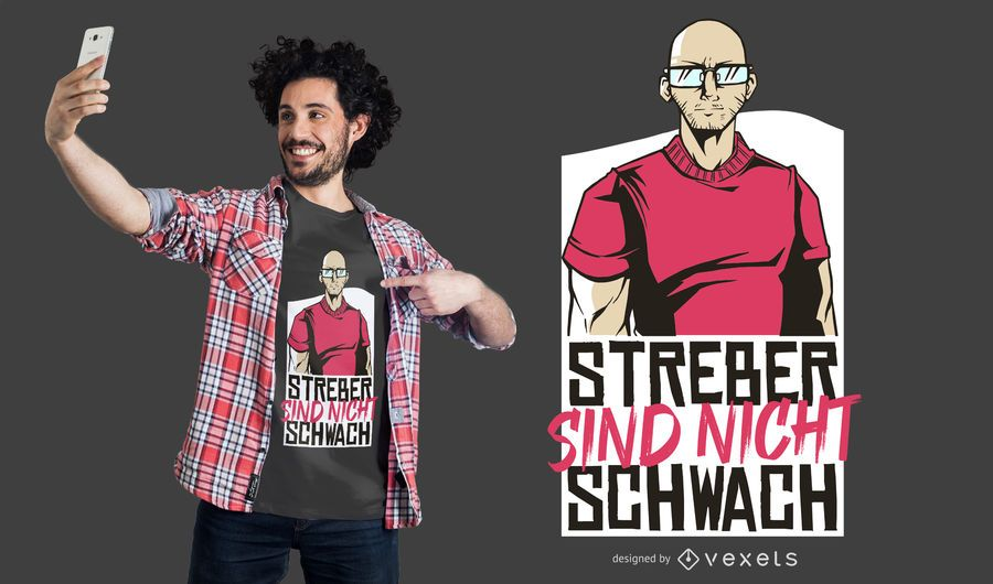 Strong Geek German Quote T-shirt Design