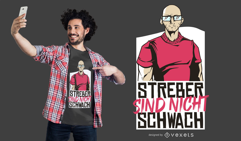 Dise?o de camiseta Strong Geek German Quote