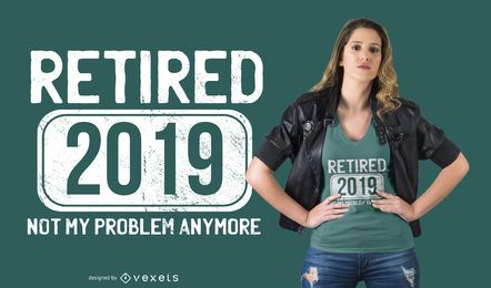 Diseño de camiseta de cita divertida de jubilación