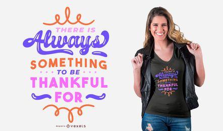 Design de t-shirt de citação grato