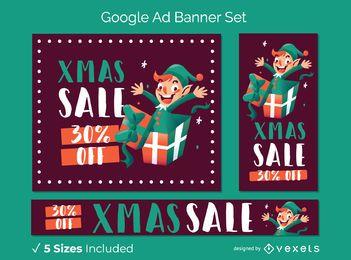 Xmas sale banner set