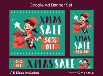 Christmas google ad banner set