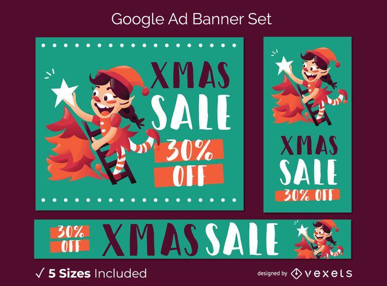 Weihnachten Google Ad Banner festgelegt