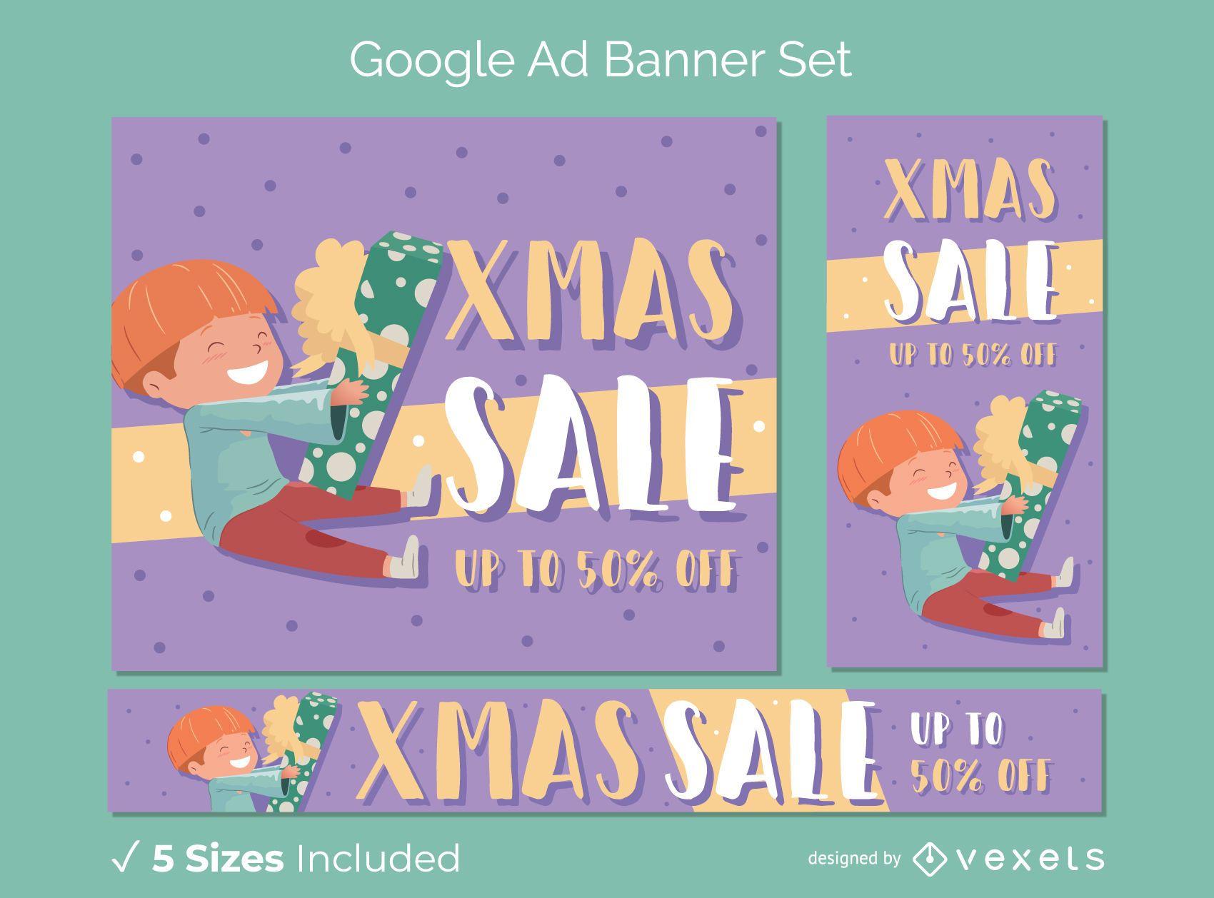 Xmas discount banner set