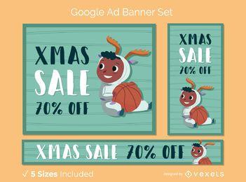 Banner de anúncio do Google definido natal