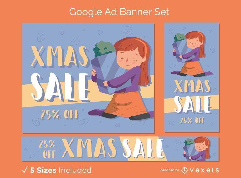 Venta de navidad banners publicitarios de google