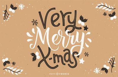 Sehr fröhliche Weihnachtsschrift