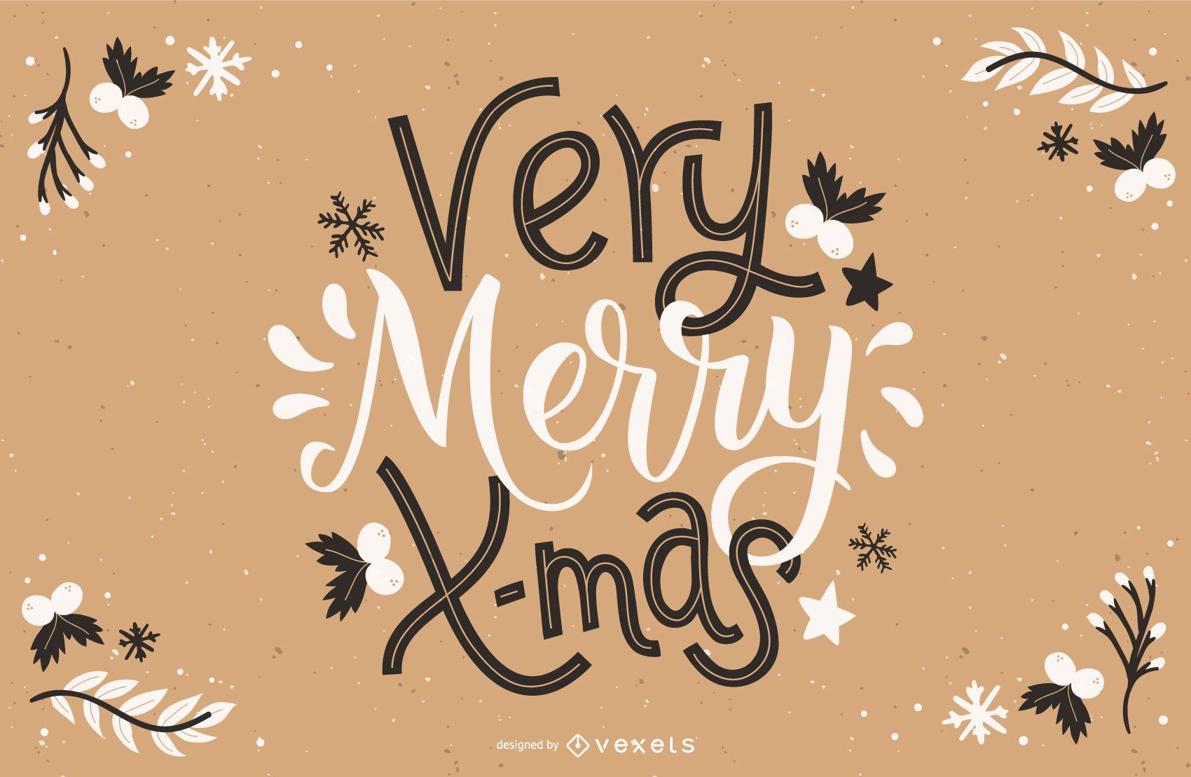 Letras de Navidad muy feliz