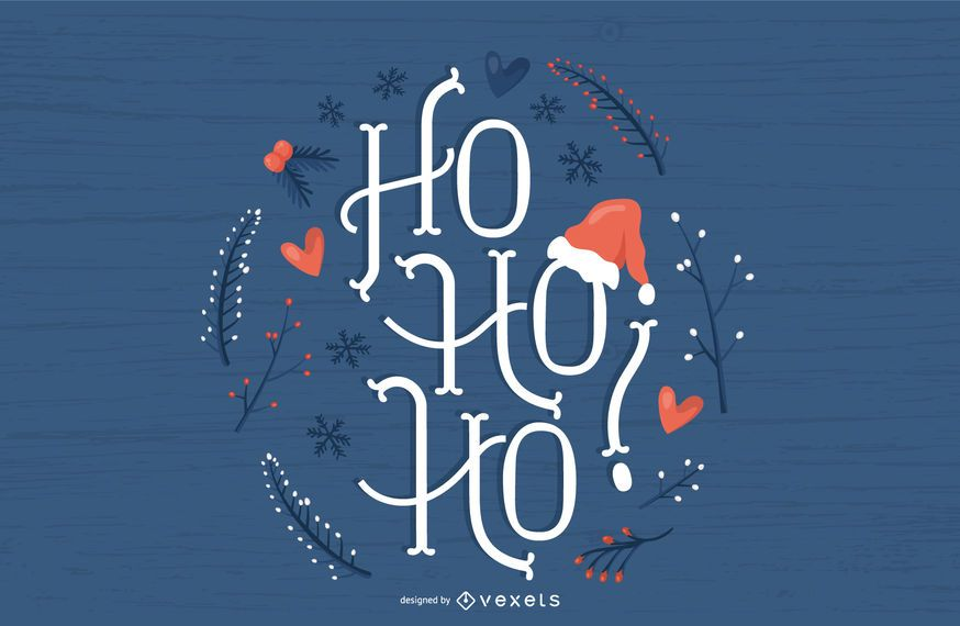 Cute christmas lettering design