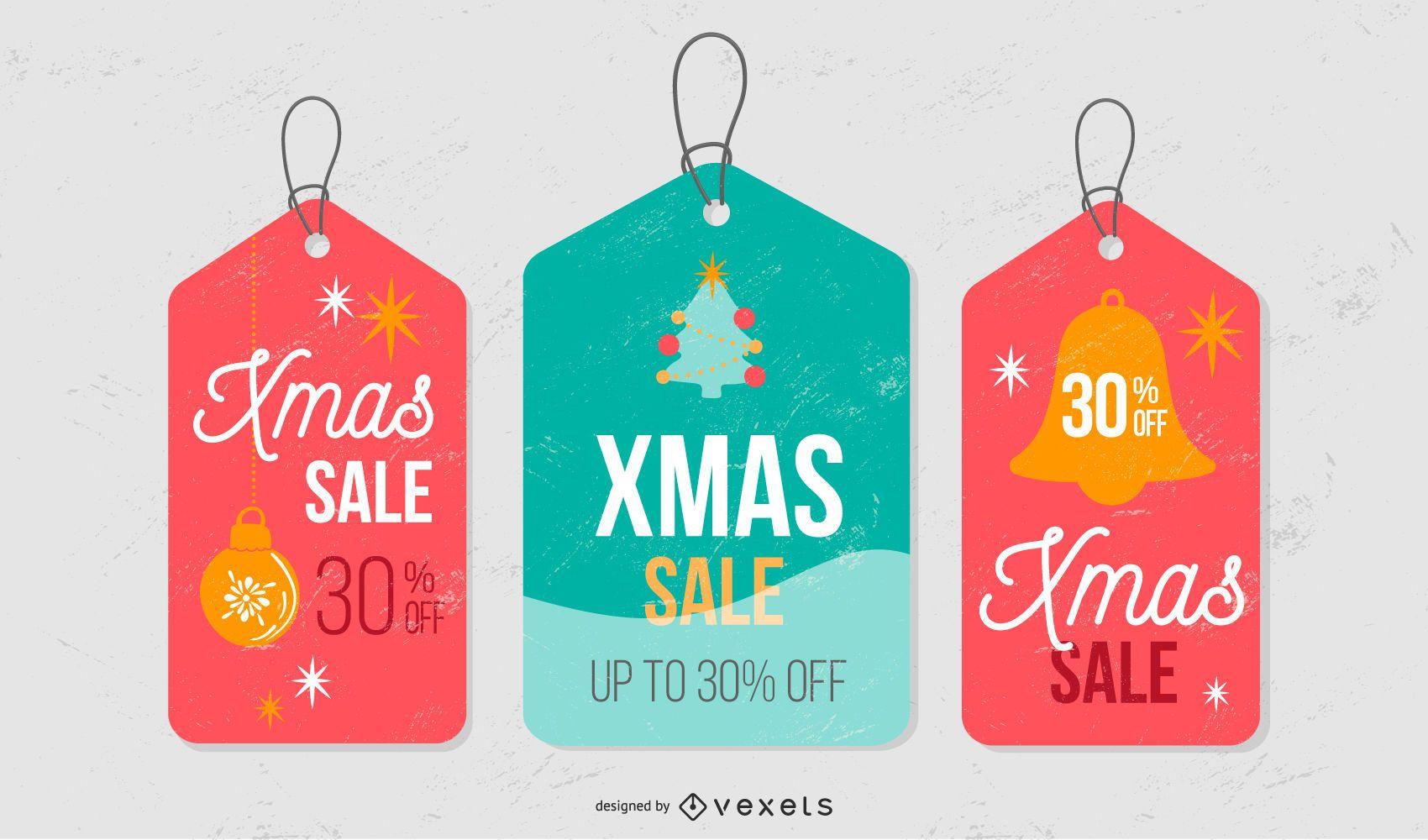 Christmas sale tag set