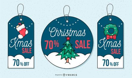 Xmas sale tag set