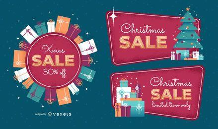 Conjunto de insignias de venta de Navidad