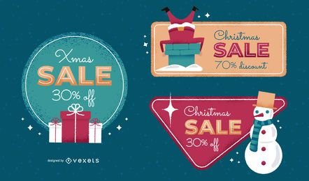 Xmas sale badge set