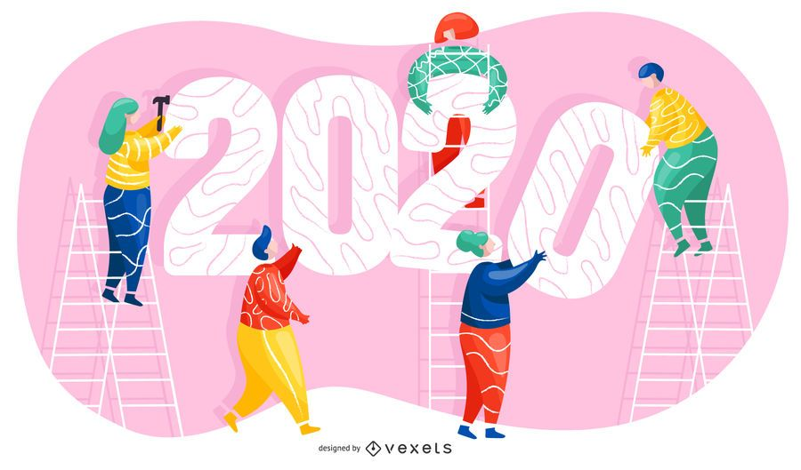 2020 New year illustration