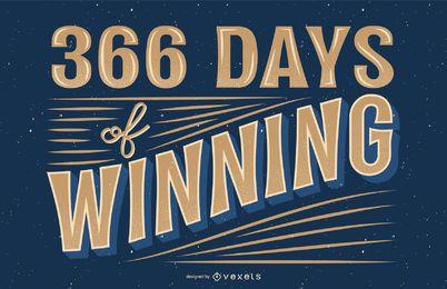 366 Tage Schriftzug gewinnen