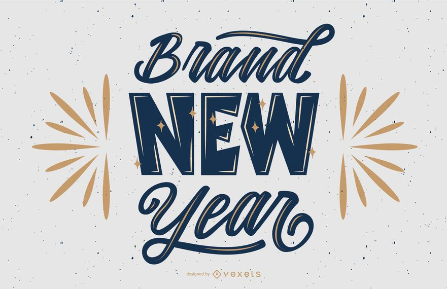 Brand new year lettering