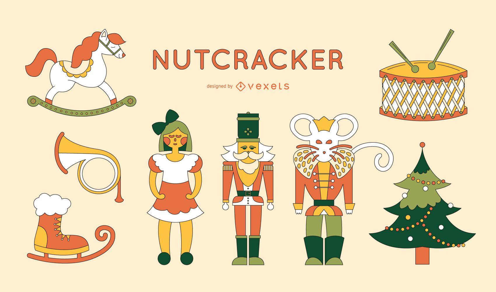 Nutcracker elements set