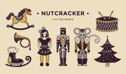 Nutcracker duotone elements
