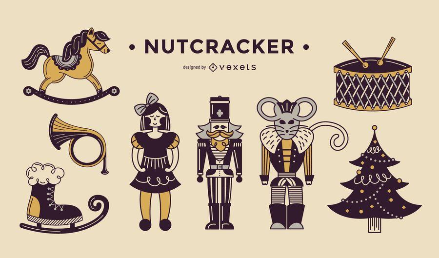 Nutcracker duotone elements