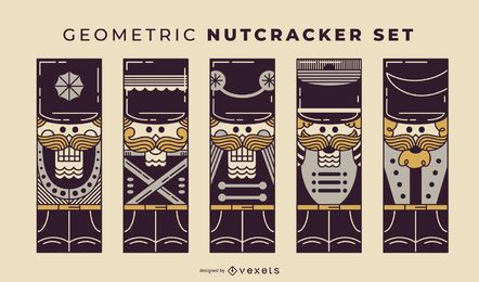 Geometric Nutcracker duotone set