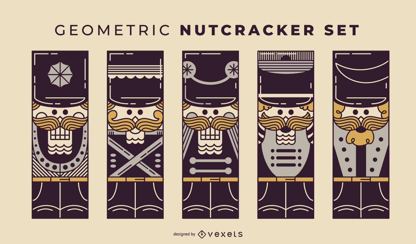 Geometric Nutcracker duotone set