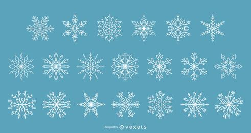 Snowflakes winter vector collection