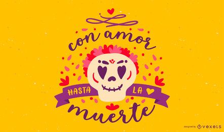 Day of the dead spanish lettering
