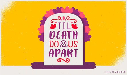 Day of the dead lettering design