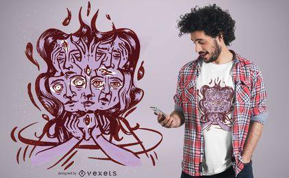 Schwindliges Hauptt-shirt Design