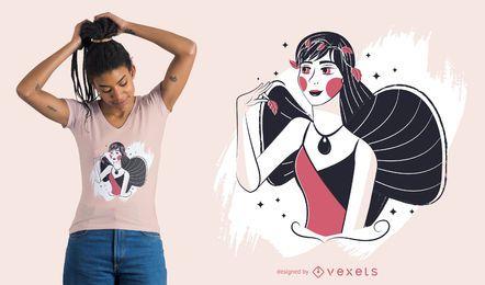 Design de t-shirt de fada encantada