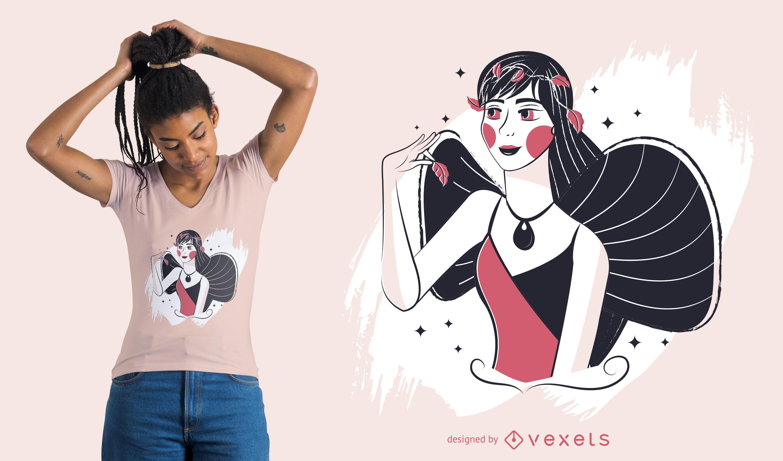 Diseño de camiseta de hada encantada