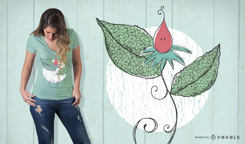 Fragile flower t-shirt design