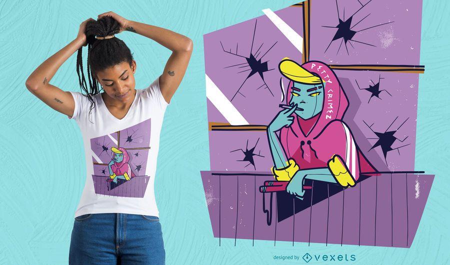 Diseño de camiseta de niña tirachinas