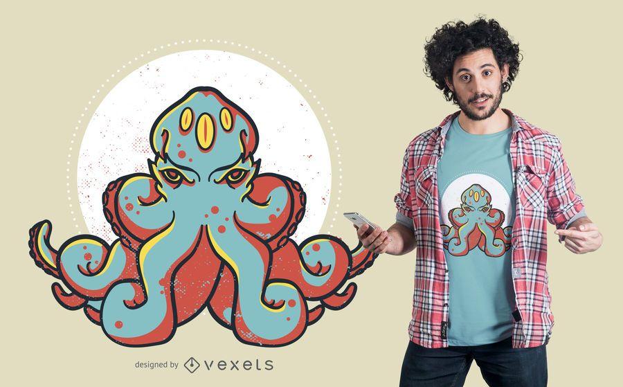 Diseño de camiseta Kraken