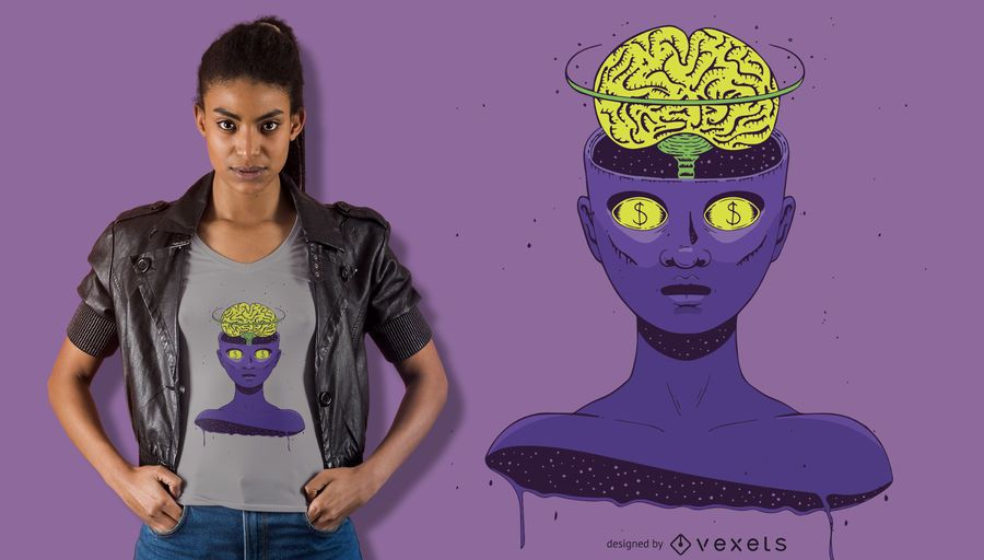 Mindless girl t-shirt design
