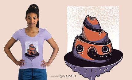 Design de camiseta de montanha para estrada