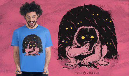 Diseño de camiseta de criatura salvaje