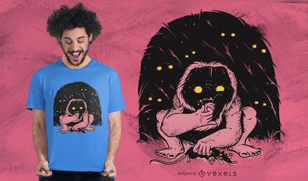 Wild creature t-shirt design