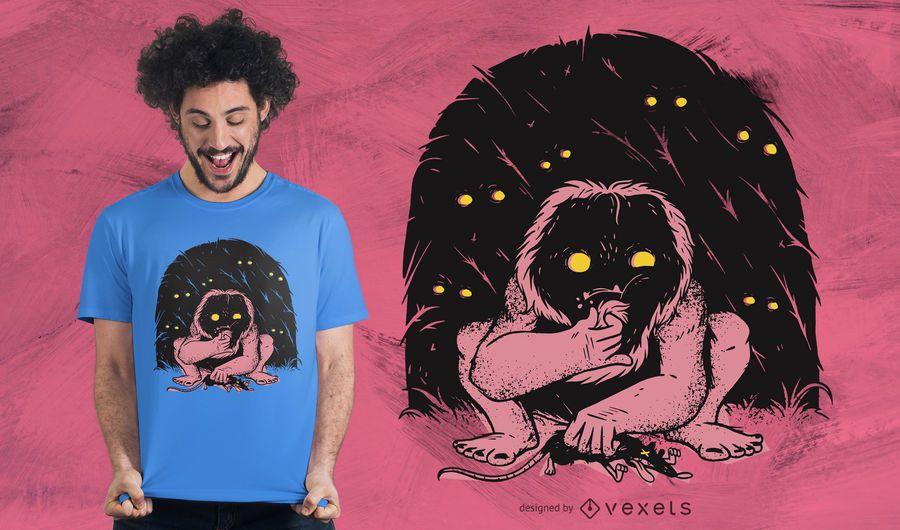 Wild creature t-shirt design