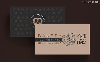 Bäckerei-Visitenkarte-Schablone