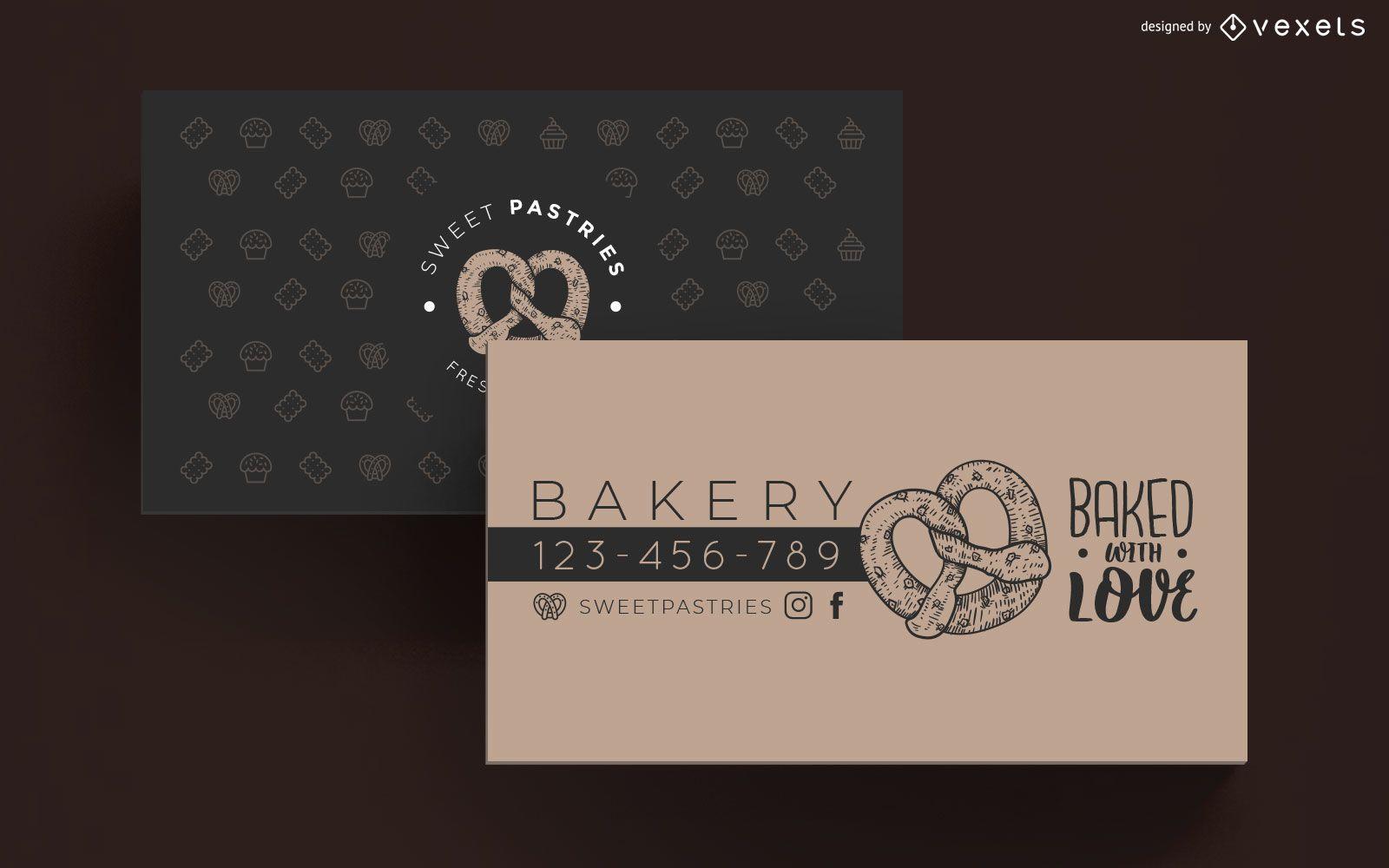 Plantilla de tarjeta de visita de panadería